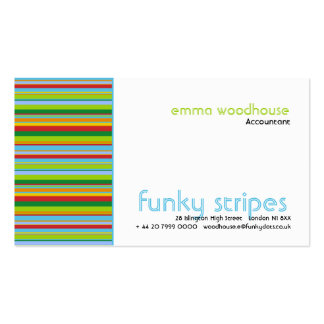 Funky Stripes Business Cards
