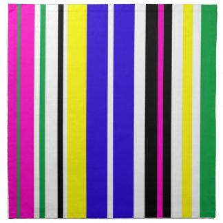 Funky Stripes Cloth Napkins