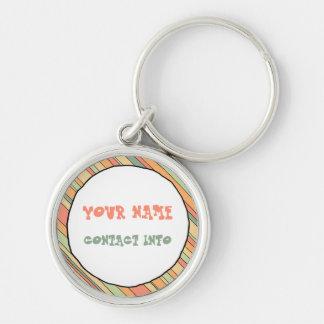 Funky Stripes ID tag Keychain