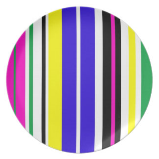 Funky Stripes Plates