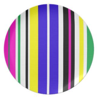 Funky Stripes Plates
