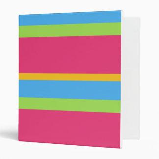 Funky Stripes School Notebook 3 Ring Binder