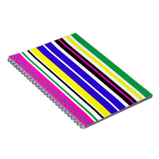 Funky Stripes Spiral Note Books