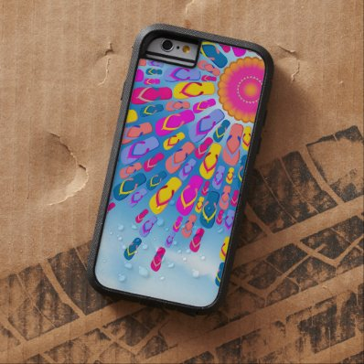 Funky Summer Sun Flip-Flops Rays Tough Xtreme iPhone 6 Case