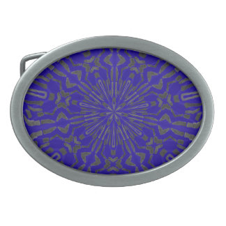Funky Sun Pattern Oval Belt Buckle
