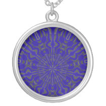 Funky Sun Pattern Silver Plated Necklace
