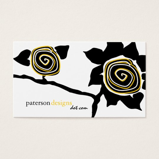 Funky Sunflower Business Cards