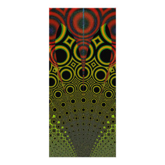 Funky Sunrise Fractal Rack Card