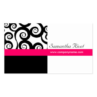 Funky Swirl Business Cards