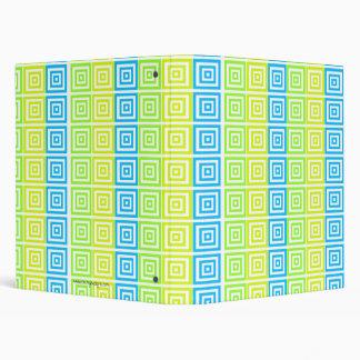 Funky Swirl Squares 3 Ring Binder