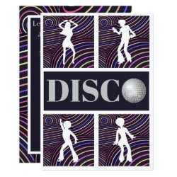 Funky Swirls Disco Theme 70's Party Invitation