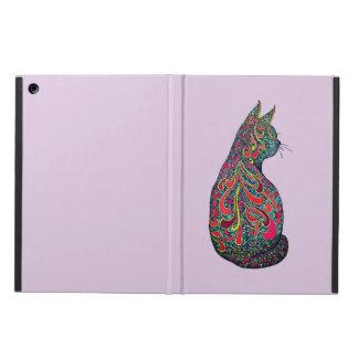 Funky tattoed kitty iPad air cover