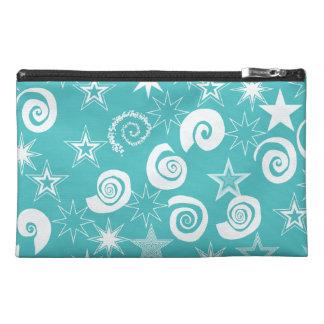 Funky Teal Blue Stars Swirls Fun Pattern Gifts Travel Accessory Bags