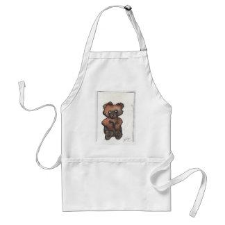 Funky Teddy Bear - Cricketdiane Art Adult Apron