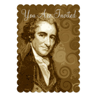 Funky Thomas Paine Party Invitations