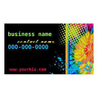Funky Tie Dye Business Card