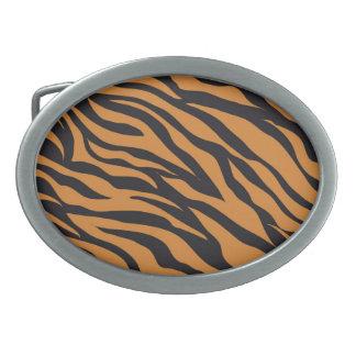 Funky Tiger Stripes Wild Animal Patterns Gifts Oval Belt Buckles