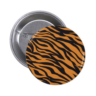 Funky Tiger Stripes Wild Animal Patterns Gifts Button