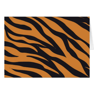 Funky Tiger Stripes Wild Animal Patterns Gifts Card