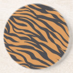 Funky Tiger Stripes Wild Animal Patterns Gifts Beverage Coasters