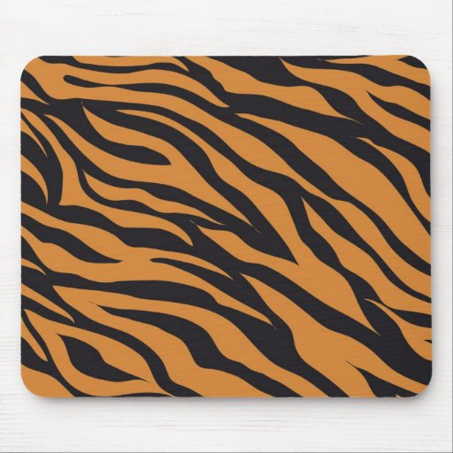 Funky Tiger Stripes Wild Animal Patterns Gifts Mousepads