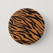 Funky Tiger Stripes Wild Animal Patterns Gifts Pinback Button