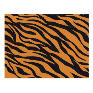 Funky Tiger Stripes Wild Animal Patterns Gifts Postcard