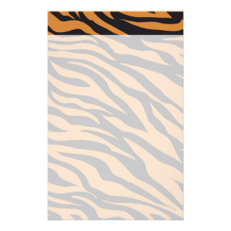 Funky Tiger Stripes Wild Animal Patterns Gifts Stationery Paper