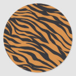 Funky Tiger Stripes Wild Animal Patterns Gifts Stickers