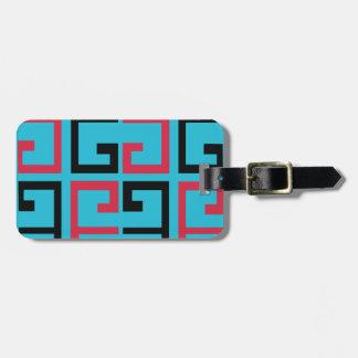 Funky Tiles Bag Tag
