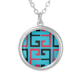 Funky Tiles Silver Plated Necklace