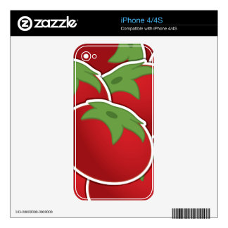 Funky tomato iPhone 4 decal