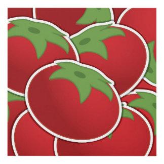 Funky tomato panel wall art