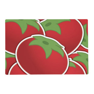 Funky tomato placemat