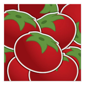 Funky tomato poster