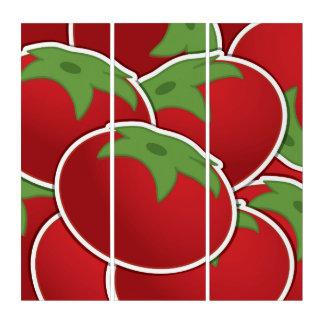 Funky tomato triptych