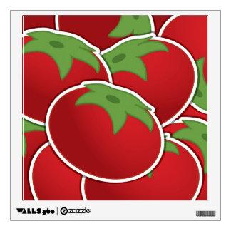 Funky tomato wall sticker