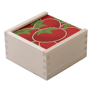 Funky tomato wooden keepsake box