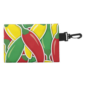 Funky traffic light chilli peppers accessory bag
