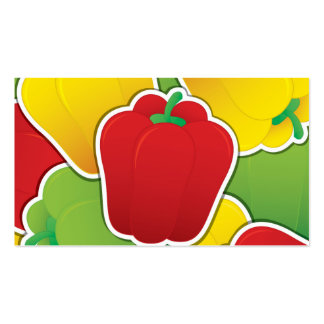 Funky traffic light peppers business card