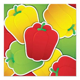 Funky traffic light peppers card