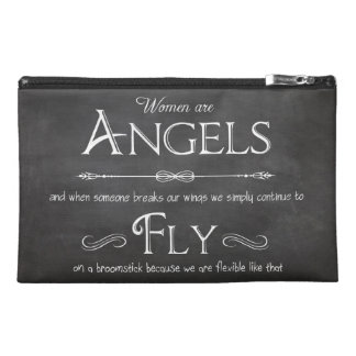 Funky Travel Accessory Clutch - Women Are Angels Travel Accessory Bags