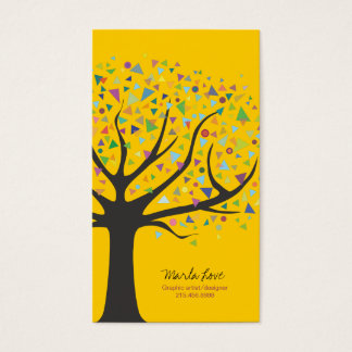 Funky Tree Business Card Art Graphic designer