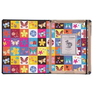 Funky Trendy Butterfly Pattern iPad Folio Case
