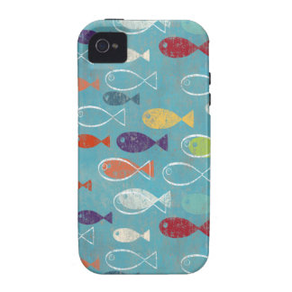 Funky Trendy Fish Vibe iPhone 4 Covers