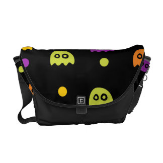 Funky Trendy Retro Abstract Halloween Pattern Courier Bag