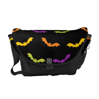 Funky Trendy Retro Abstract Halloween Pattern Messenger Bag