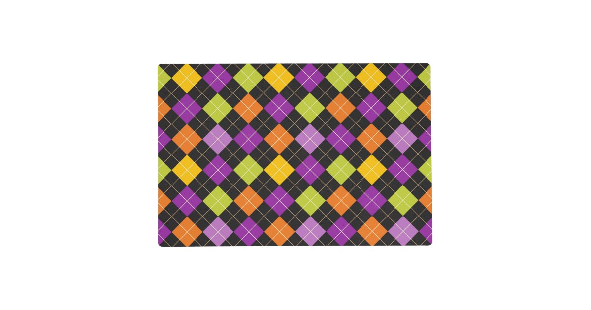 Funky Trendy Retro Abstract Halloween Pattern Placemat
