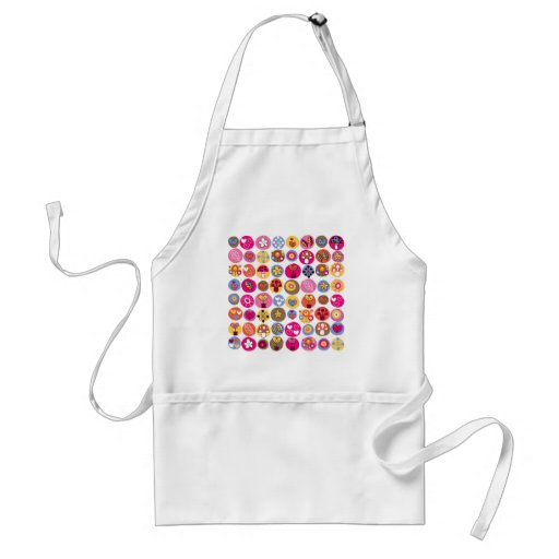 Funky Trendy Retro Abstract Pattern Aprons