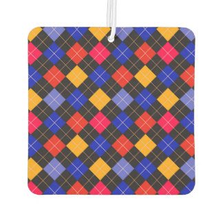 Funky Trendy Retro Abstract Pattern Car Air Freshener